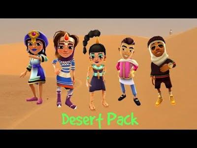 Subway Surfers Desert Pack | Jasmine, Amira, Salma, Kareem and Prince K
