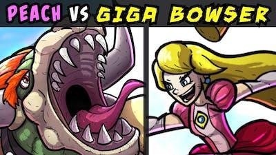 PRINCESS PEACH vs GIGA BOWSER - Drawing an Epic Smash Ultimate Mural