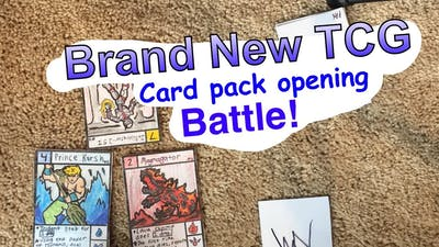 Brand new Homemade TCG pack open and battle!