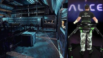 Alice VR with the Virtuix Omni