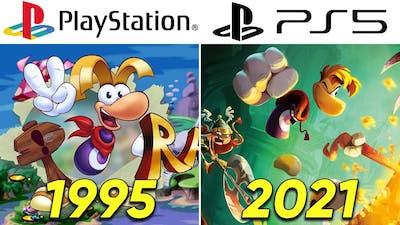 Evolution of RAYMAN PlayStation Games (1995-2021)