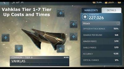 Vahklas Building and Tier 1-6 - Star Trek Fleet Command