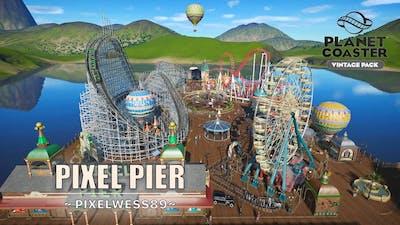 Pixel Pier [4K Blueprint Park] - Vintage Pack | Planet Coaster