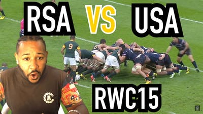 THIS IS TOUGH...   SOUTH AFRICA VS USA   RUGBY WORLD CUP 2015   REACTION!!!