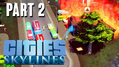 Cities: Skylines - Mass Transit DLC, Gardens DLC -  New CITY Gameplay - Part 2