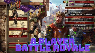 Age of Empires 2 Definitive Edition : Battle Royale Fall of Rome | 8 Player Match