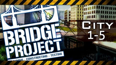 BRIDGE PROJECT Walkthrough - City Map 1, 2, 3, 4 & 5 (Gameplay Lets Play Bridge Builder Game)