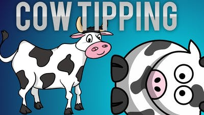 The Cows Are Watching - cow tipping