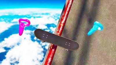 I Broke my Face Grinding Giant Rails in VR Skater!