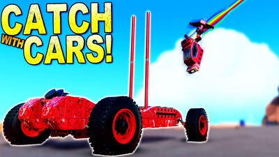 The Hardest Game of CATCH Involves Cars and Catapults! - Trailmakers Multiplayer