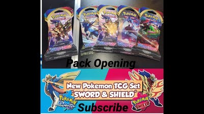 Sword and Sheild TCG Pack Opening!