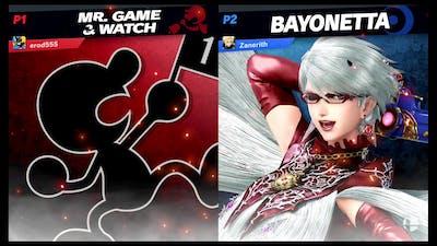 Zanerith (Bayonetta) Vs Erod555 (Game and Watch) Smash Ulttimate