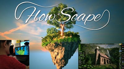 Flowscape Game ...with DRAGON SCARE!