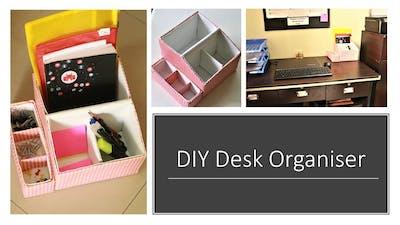 DIY Multipurpose Desk Organizer From Shoe Box