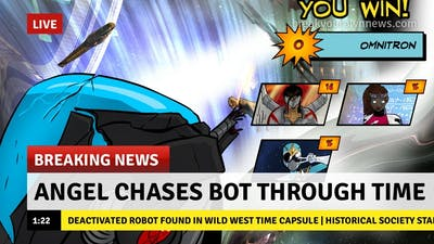 Angel Chases Bot Through Time - Sentinels of the Multiverse: The Video Game