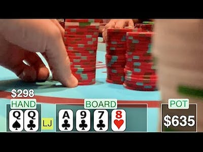 MY BIGGEST BLUFF EVER! WILL IT WORK?! // TEXAS HOLDEM TIPS AND STRATEGIES POKER VLOG 19