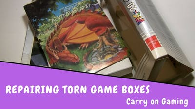 Repairing old and torn game boxes