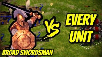 BROAD SWORDSMAN vs EVERY UNIT | Age of Empires: Definitive Edition