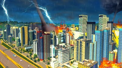 DESTROYING MY *OLD* CITY (cities skyline natural disaster dlc)