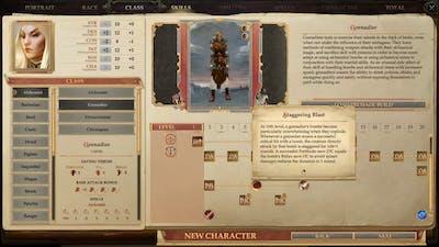 Pathfinder Kingmaker Alchemist and Barbarian Class Subclass Skill Progression
