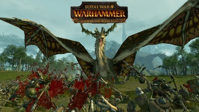 10 Forest Dragons Murder 6,000 Innocent Goblins - Total War Warhammer Wood Elves DLC Gameplay