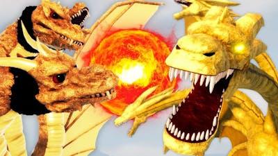 NEW GHIDORAH vs MONSTER ZERO Strength Battle in ROBLOX