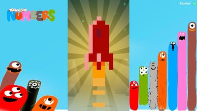 Fun Space Part 2 Puzzles - Dragonbox: Numbers (iPad, iPhone, Android). Fun game for kids.