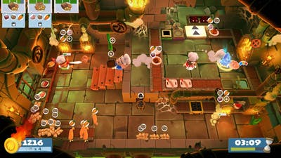 (4players) Overcooked2 Night of the Hangry Horde 1-2 [score: 3516]