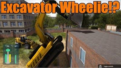 Construction Machines Simulator 2016 | Excavator Wheelie!