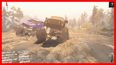 My Ford 6x6 Got Stuck - Spin Tires