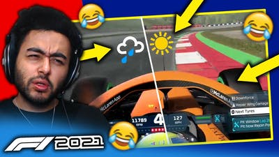 WEATHER CHANGES INSTANTLY MID-RACE! BIG GLITCH F1 2021 GAME!