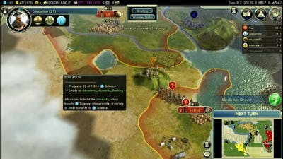 Let's Play Civilization V: Wonders of the Ancient World; Persia (King difficulty); Part 5