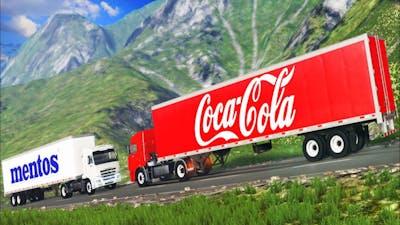 Coca Cola VS Mentos Truck Crash - End of the World 2020 (BeamNG.drive)