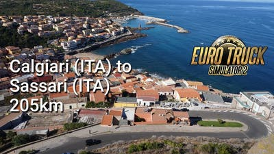 Calgiari (ITA) to Sassari (ITA) 205km - Euro Truck Simulator 2 - ETS2 (032)