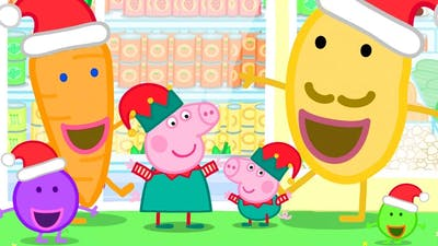 Peppa Pig Official Channel   Christmas Shopping at the Supermarket with Peppa Pig