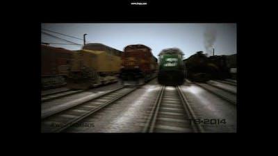 Train Simulator 2014- New Intro, Zoom Camera Test, and Derailment