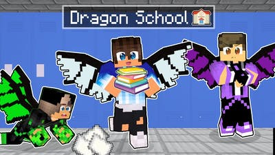 Our First DRAGON SCHOOL In Minecraft