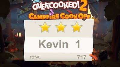 Overcooked 2. Campfire cook off. Kevin 1. 2 players Co-op