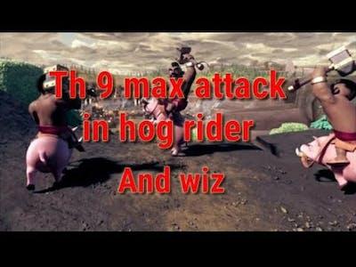 War best attack in hog rider max th9  by game guru rkj
