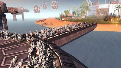 Order 66 Invasion of KASHYYYK Jedi Temple! - Men of War: Star Wars Mod Battle Simulator